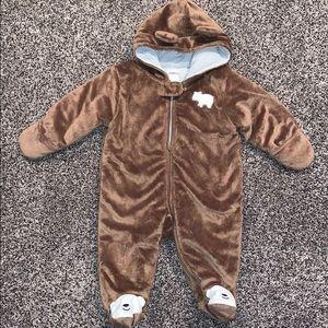 Carters Baby Brown Footie Coat SZ.6Months